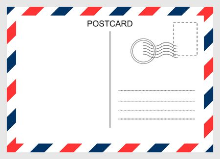 Illustration pour Postcard, travel blank card isolated on background. Modern graphic design - image libre de droit