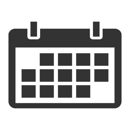 Illustration pour Calendar icon, date event symbol isolated on white background. Vector web button . - image libre de droit