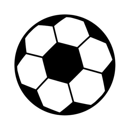 Illustration pour Soccer, football ball symbol, single goal isolated design vector illustration, web game object. - image libre de droit