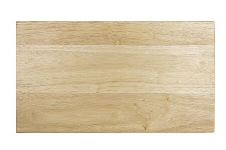 Photo for Top view Wooden tray. Wooden board isolate on white background. - Royalty Free Image