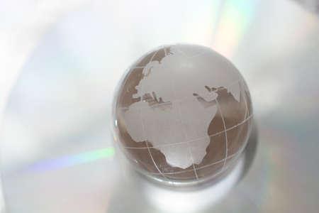 Foto de Glass globe for environment and conservation. Global business or education  concepts - Imagen libre de derechos