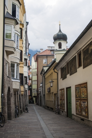 Alley in the old town of Innsbruck