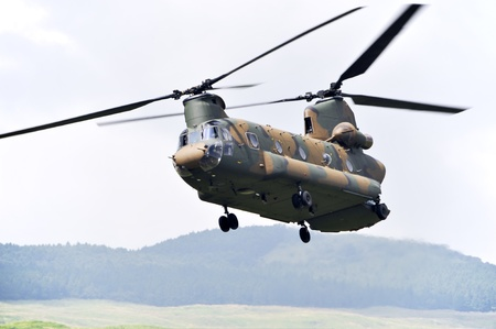 Chinook CH-47, Tandem rotor military helicopter.