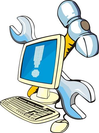 desktop computer repair sign