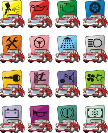 set of car service sign