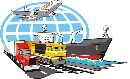 Photo for sign of transportation cargo on all type of the transport - Royalty Free Image