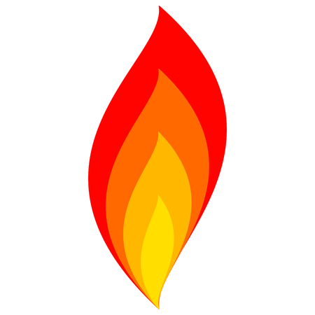 Illustration for fire icon flame vector sign fire symbol from flame - Royalty Free Image