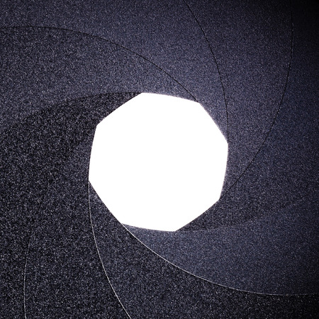 part of the objective - an open aperture