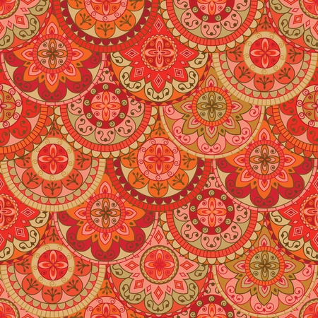 seamless pattern with retro colored circles