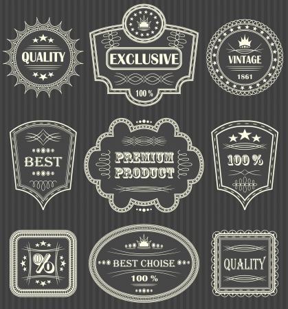 Foto de Vintage labels. Striped background    - Imagen libre de derechos
