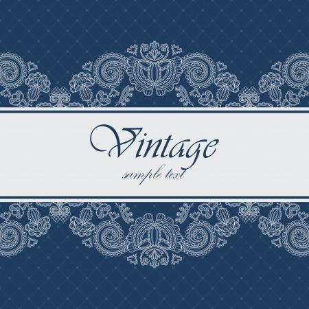 Foto de Elegant card with a blue background. Can be used as an invitation or frame            - Imagen libre de derechos