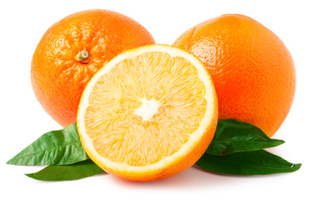 Foto de Oranges isolated on white. - Imagen libre de derechos