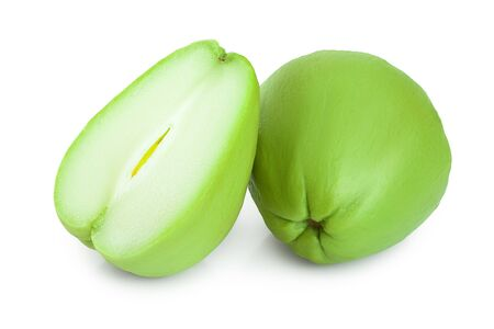 Photo pour fresh Chayote vegetable isolated on white background - image libre de droit