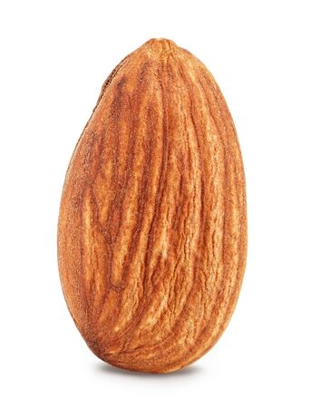 Photo pour Almonds nuts isolated on white background - image libre de droit