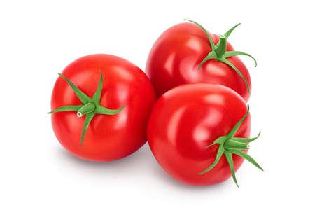 Photo for Tomato isolated on white background with clipping path and full depth of field. - Royalty Free Image
