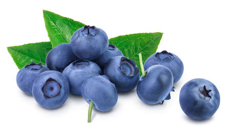 Photo pour fresh blueberry isolated on white background closeup with clipping path and full depth of field - image libre de droit