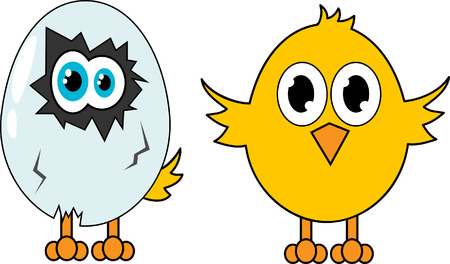 Creative design of cartoon bird