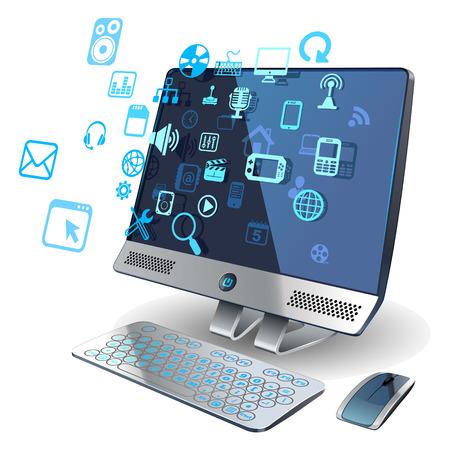Ilustración de computer networks - Imagen libre de derechos
