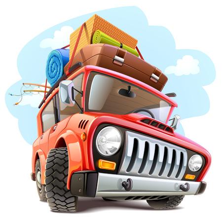 Illustration pour Vector travel car - image libre de droit