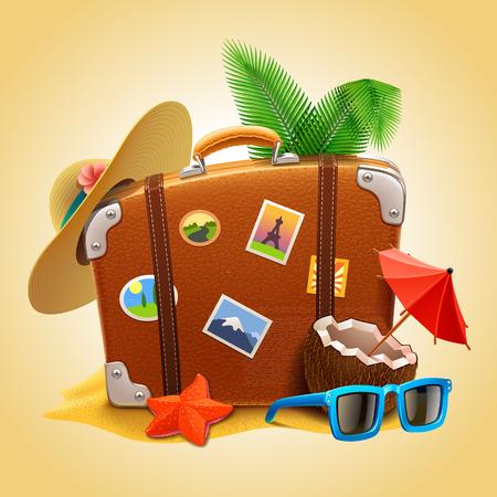 vector travel Suitcase