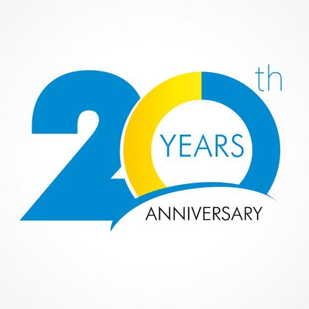 Vecteur De 20 Years Old Celebrating Id 73937363 Image