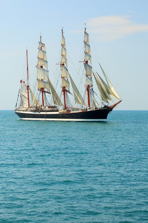 old sailing ship on the high seas