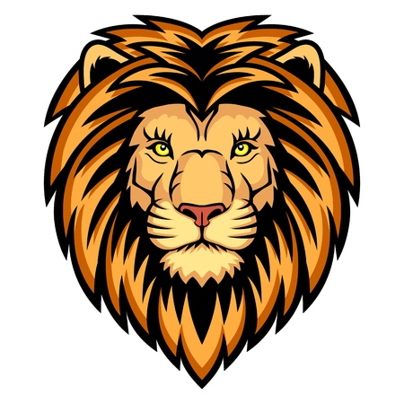 A Lion head logo  This is illustration ideal for a mascot and tattoo or T-shirt graphic