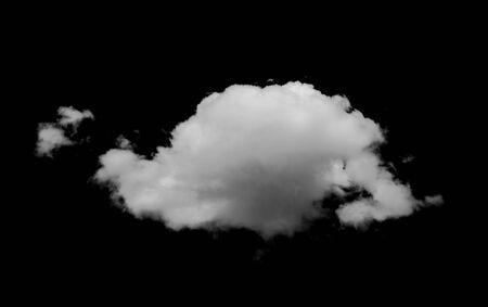 Photo pour Clouds on black background - image libre de droit