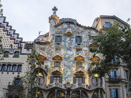 Foto de Spain Barcelona Casa Batllo, Antonio Gaudi architecture - Imagen libre de derechos