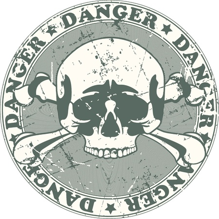 The image of Danger stamp