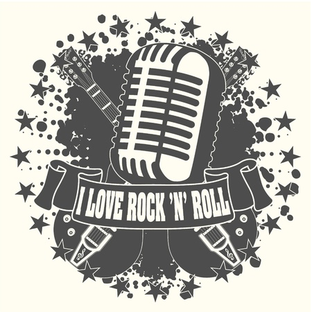 The image Symbol I love a rock n roll