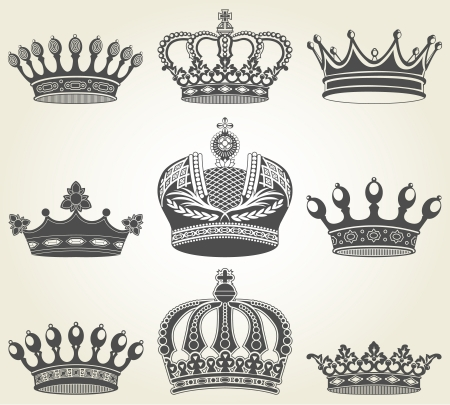 The image Set crowns in vintage style