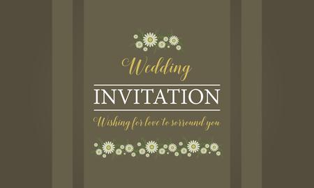 Happy wedding invitation card style vector illustration