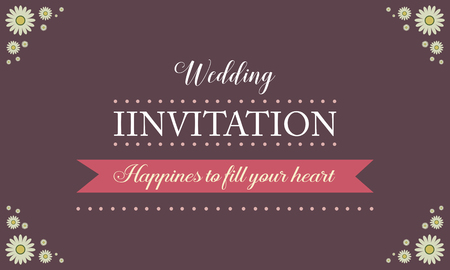 Invitation for wedding style collection vector illustration