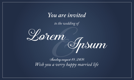 Collection of wedding invitation simple style vector illustration