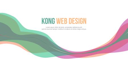 Header website abstract colorful design vector illustration