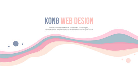 Abstract header website wave colorful