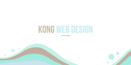 Abstract background header website design wave vector illustration