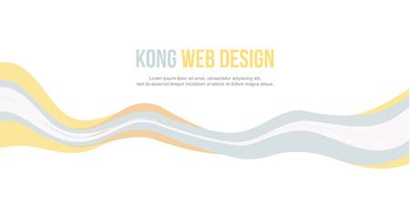 Abstract header website banner modern style vector illustration