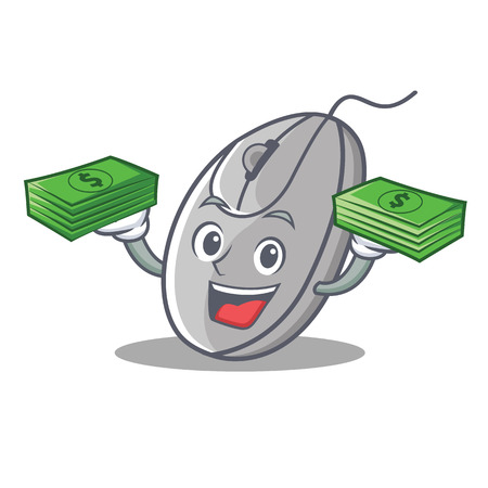 With money mouse mascot cartoon style vector illustration