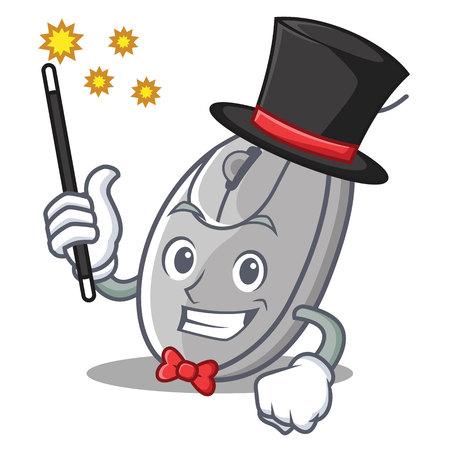 Magician mouse mascot cartoon style vector illustration