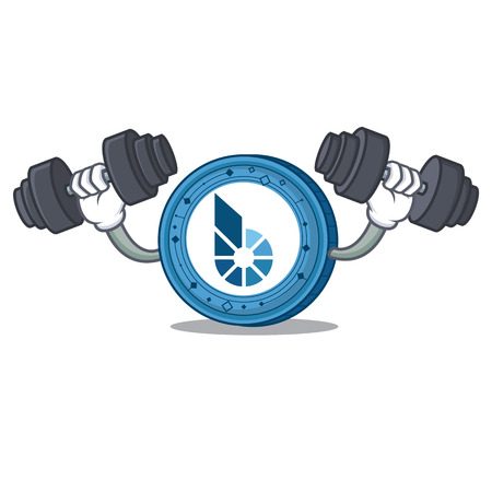 Fitness BitShares coin character cartoon