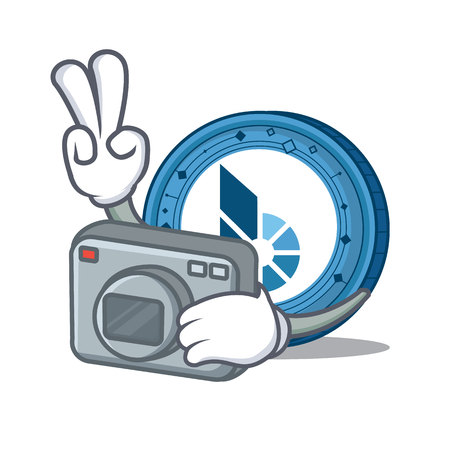 Photographer BitShares coin mascot cartoon