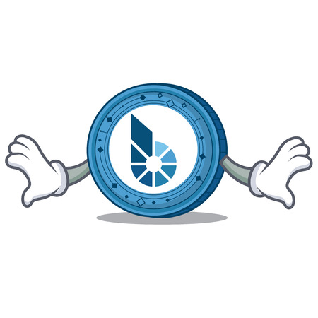 Shock BitShares coin mascot cartoon
