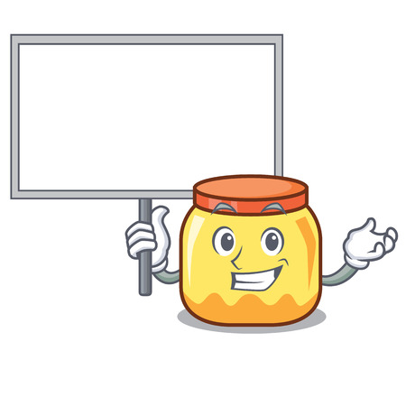 Bring board cream jar character cartoon
