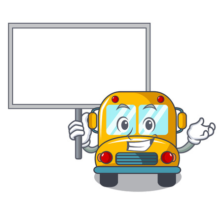 Illustration for Bring board school bus character cartoon vector illustration - Royalty Free Image
