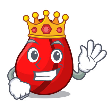 King mascot cola nuts for cook ingredient vector illustration