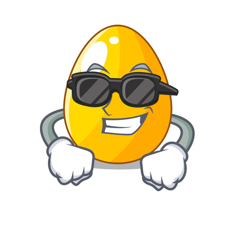 Super cool golden eggo on isolated image mascot vector illustartion