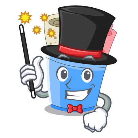 Magician ice cream roll small depth mascot vector illustration
