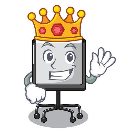 King presentation board Isolated on a mascot vetor illustration